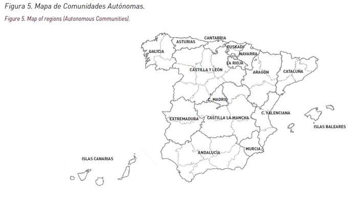 Regional Map Of Spain.Atlas Of Mortality In Spanish Municipalities And Census Tracts 1984