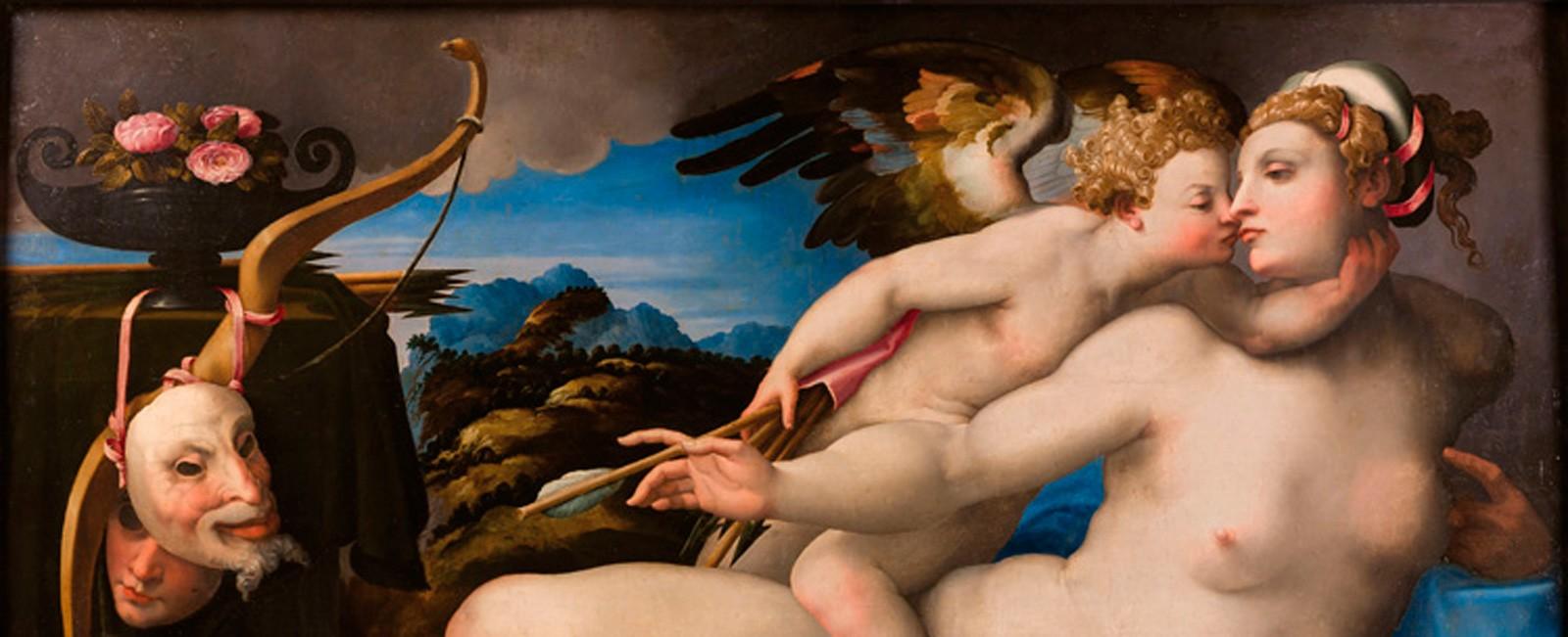 1.Venus-besada-por-Cupido,-Miguel-Angel